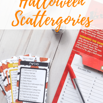 Free Printable Halloween Scattergories Game