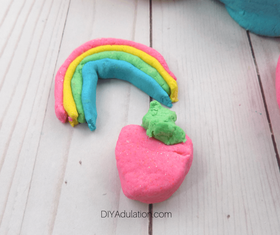 Glittery Play Dough Creations