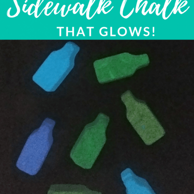 How to Make DIY Sidewalk Chalk That Glows