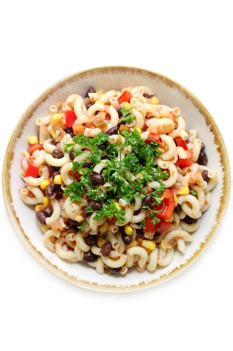 Gluten Free Mexican Pasta Salad in Bowl