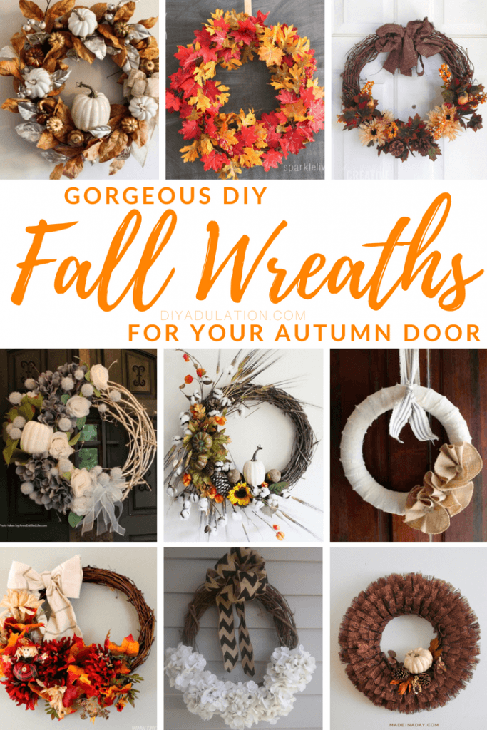 Gorgeous DIY Fall Wreaths for Your Autumn Door