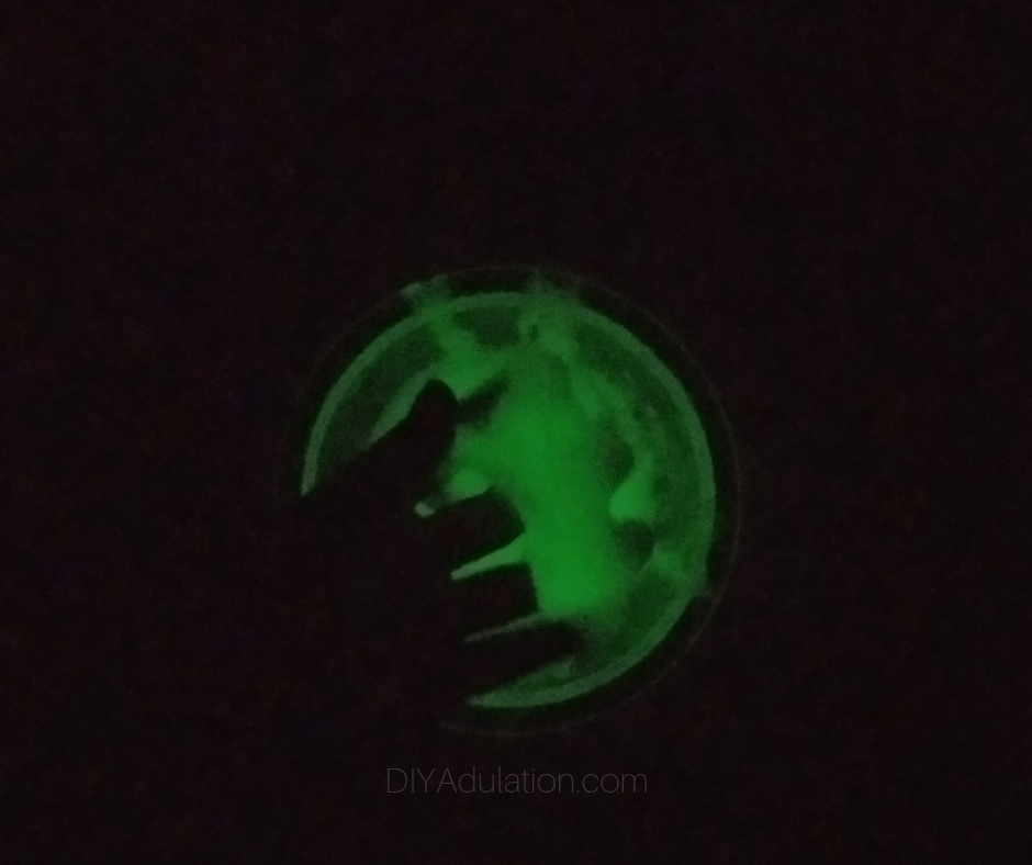 Hand in Glowing Slime