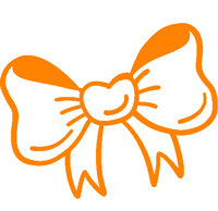 Orange drawn bow