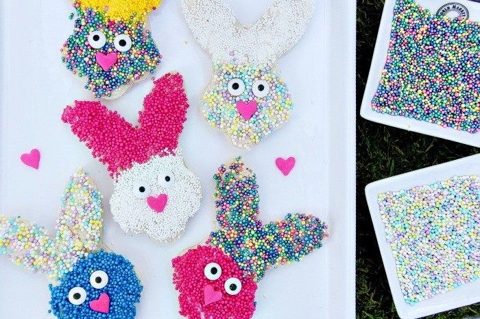 plate of bunny fairy bread