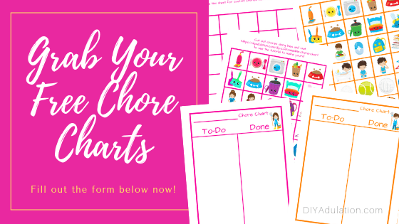 Picture Chore Chart Printables with text overlay - Grab Your Free Chore Charts