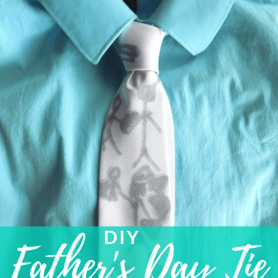 DIY Father's Day Tie Designed by Kids
