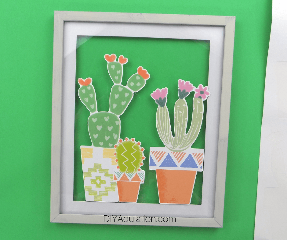 Large Cactus Stickers Wall Art