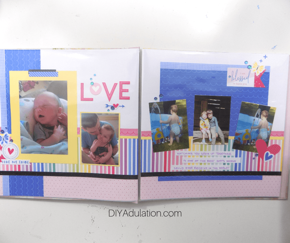 Love 2 Page Scrapbook Layout