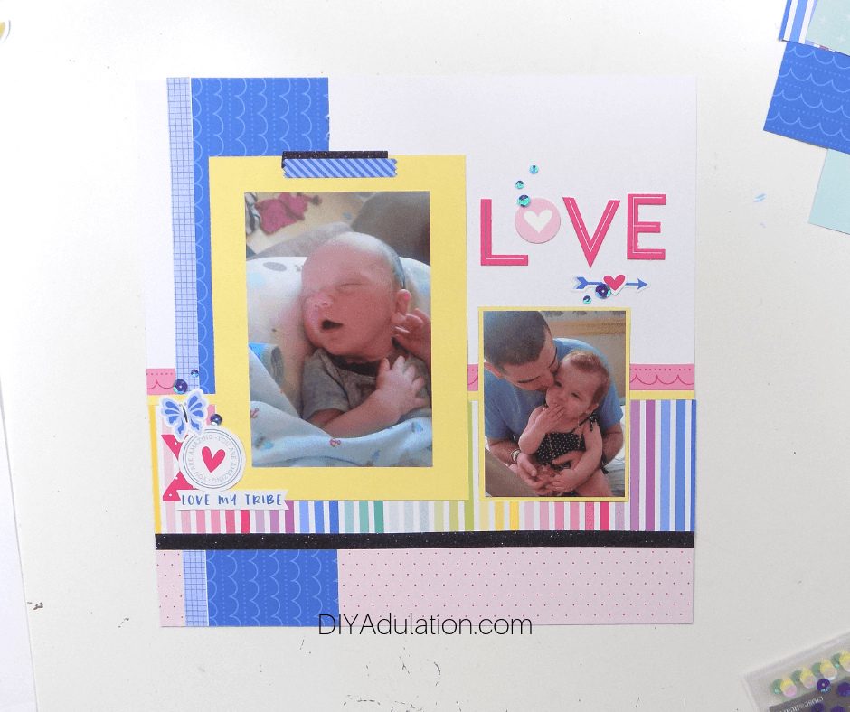 Love Design Scrapbook Page