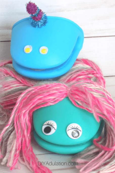 Mermaid and Narwhal Puppets DIY Easter Basket Stuffers for Kids