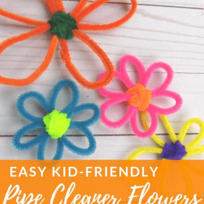Easy Kid-Friendly Pipe Cleaner Flowers