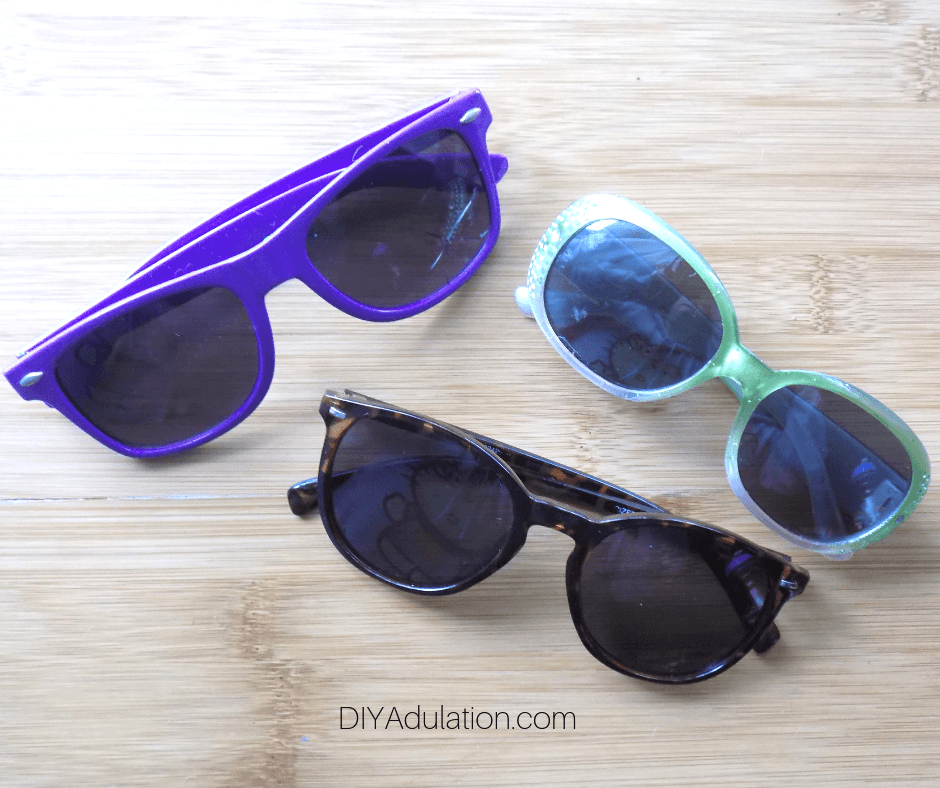 Multicolored Pairs of Sun Glasses