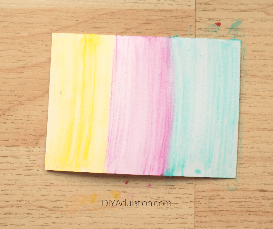 Multicolored Watercolor Card