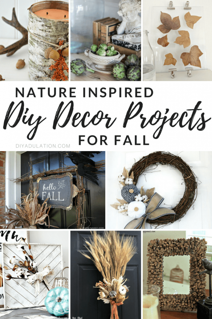 Nature Inspired DIY Decor Projects for Fall