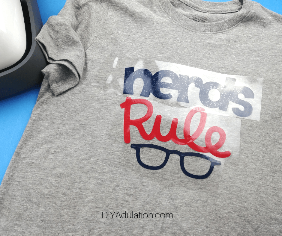 Nerds Rule Design Laid Out on T-Shirt