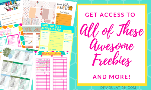 Get Access to Your VIP Library of Resources full of Printables like These When You Sign Up for the Newsletter