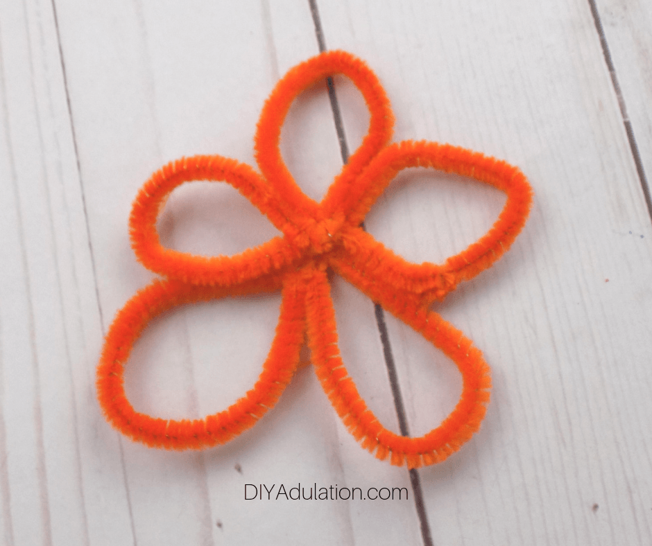 Orange Pipe Cleaner Flower