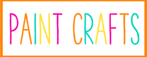 Orange and White Box with the words Paint Crafts inside