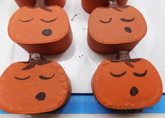 Painted Pumpkins with faces