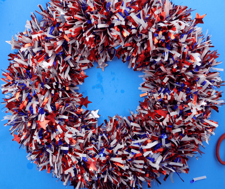 Patriotic Garland Wreath
