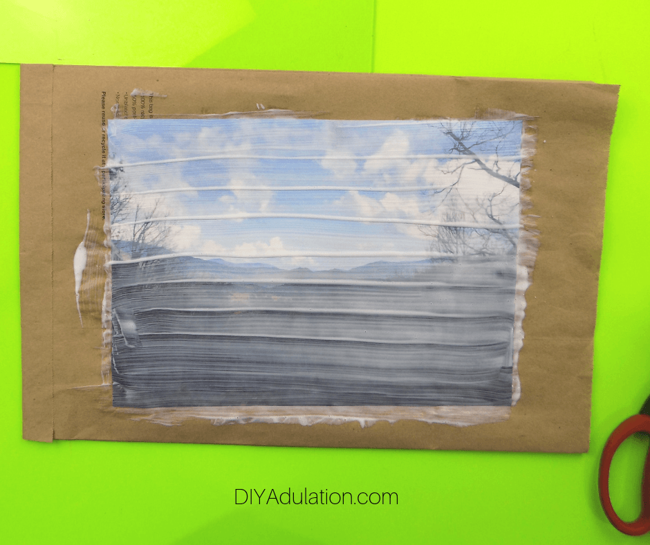 Photo Transfer Solution on Laser Printed Photo