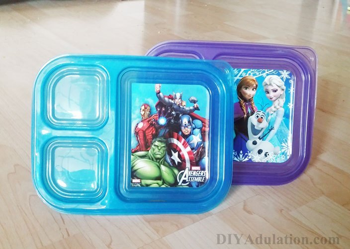 Plastic Kids Meal Containers