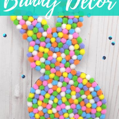 Pompom Bunny Decor for Easter