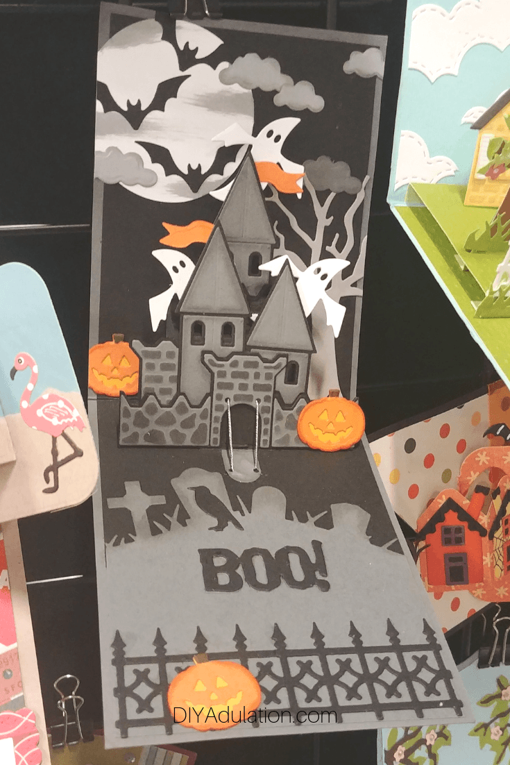 Pop-Up Halloween Castle Card