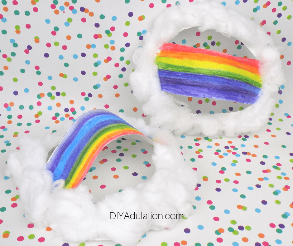 Preschool Rainbow Craft Paper Plates