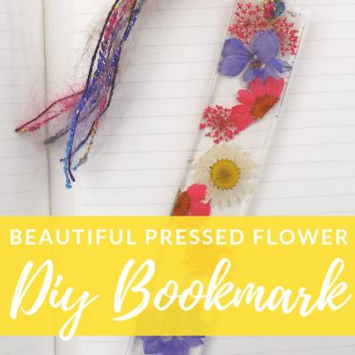 Pressed Flower DIY Bookmark Craft