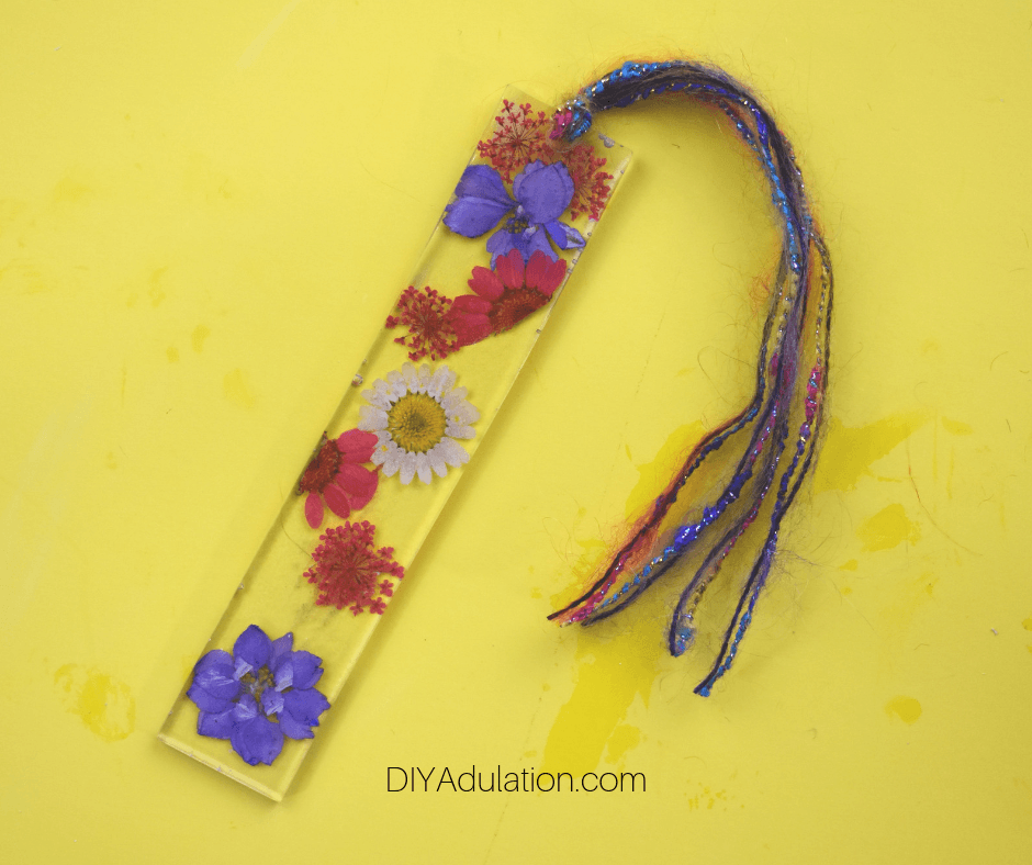 Pressed Flower Bookmark with Tassels Attached