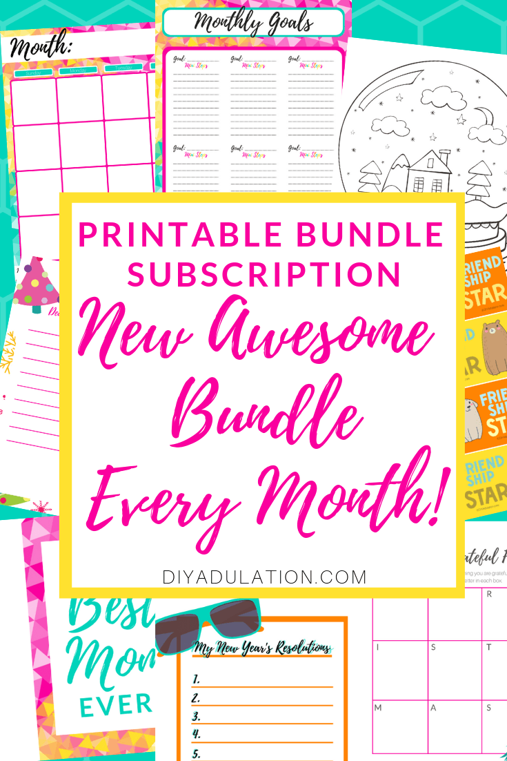 Get organized, make the holidays easier, and create fun projects with your kids with the Monthly Printable Bundle Subscription!
