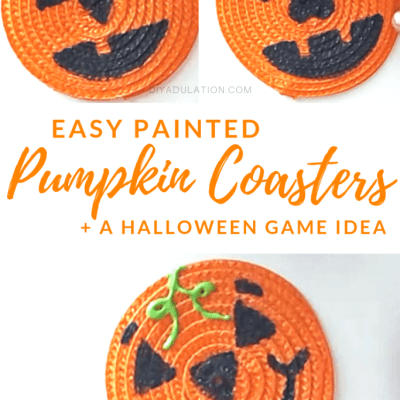 Easy Painted Pumpkin Coasters + A Halloween Game Idea
