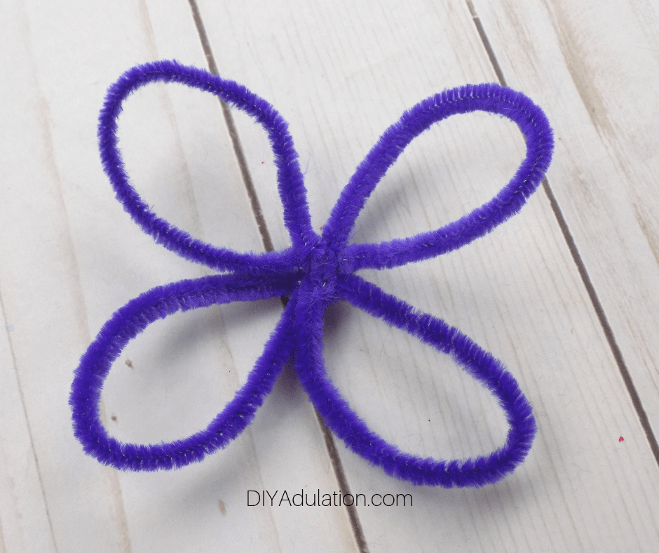 Purple Pipe Cleaner Butterfly Wings