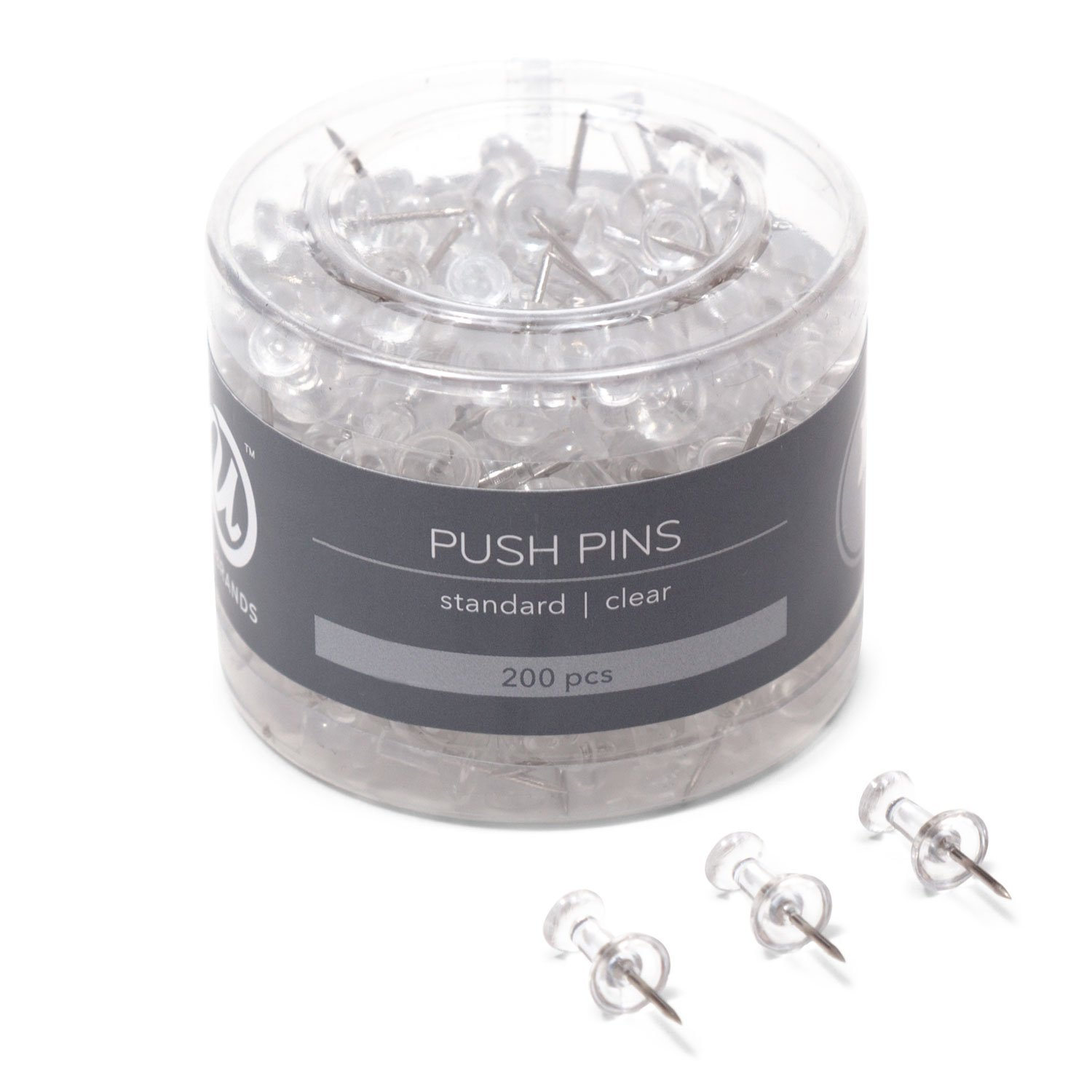 small container of push pins