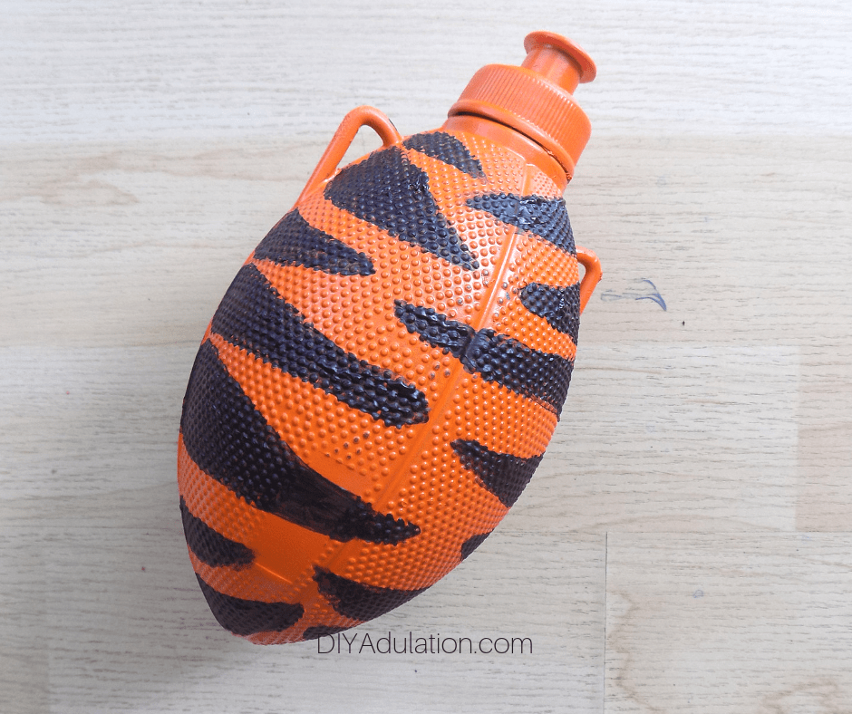 Sealed Striped Football Water Bottle