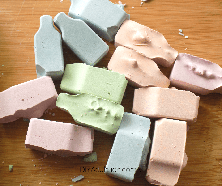 Sidewalk Chalk Popped Out of Mold