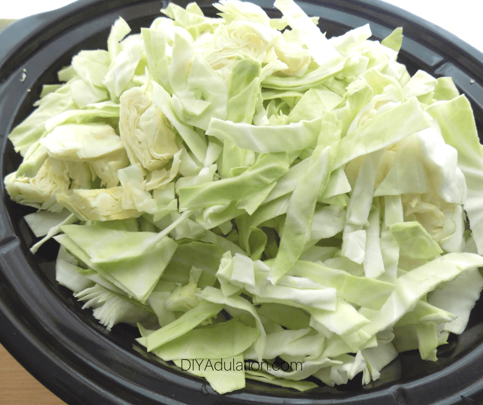 Sliced Cabbage in Crock Pot