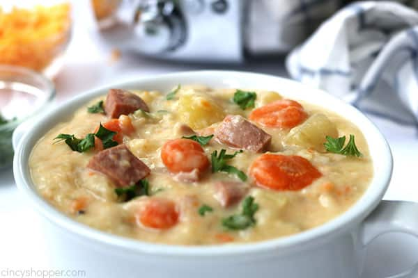 Bowl of Ham and Potato Soup