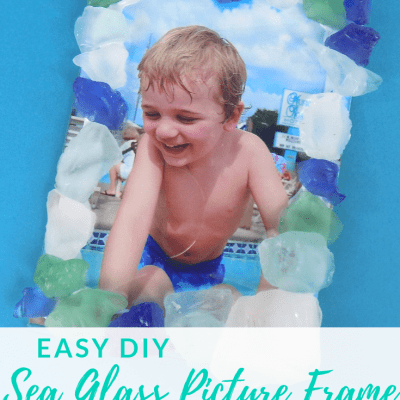 DIY Sea Glass Picture Frame