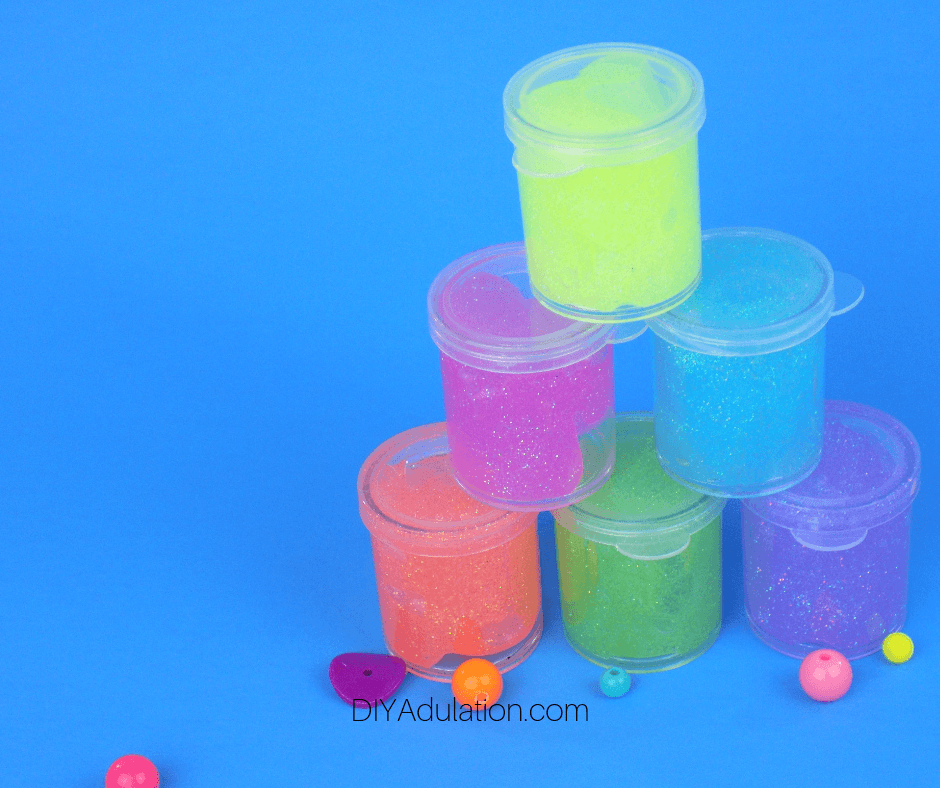 Stack of Multi Color Body Glitter Gel