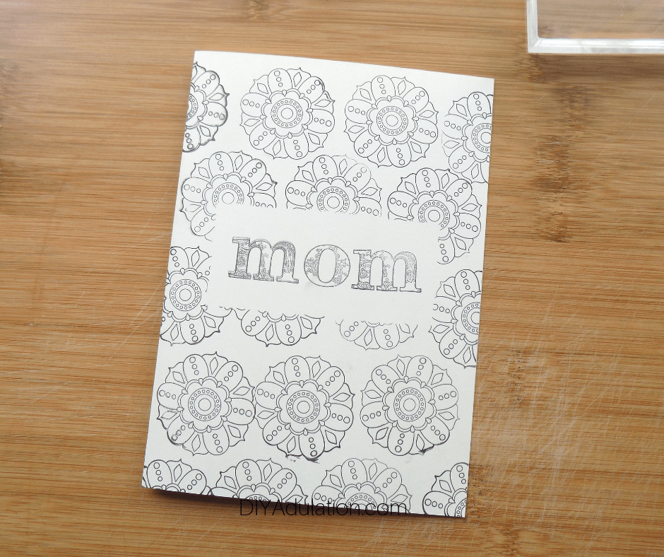 Stamped Design on Ivory Card with Mom In the Middle
