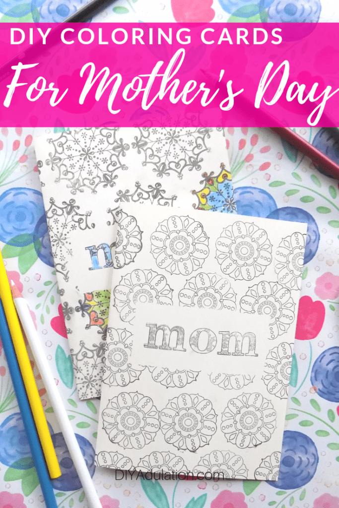 DIY Coloring Cards for Mother's Day