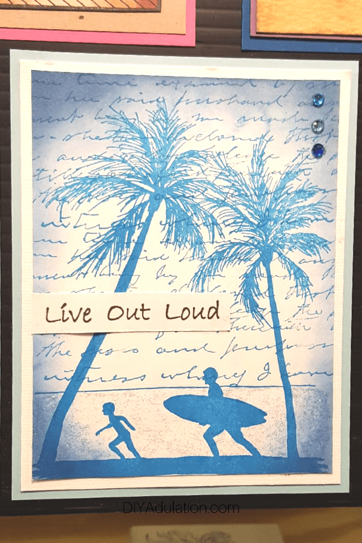 Surf Silhouette Card