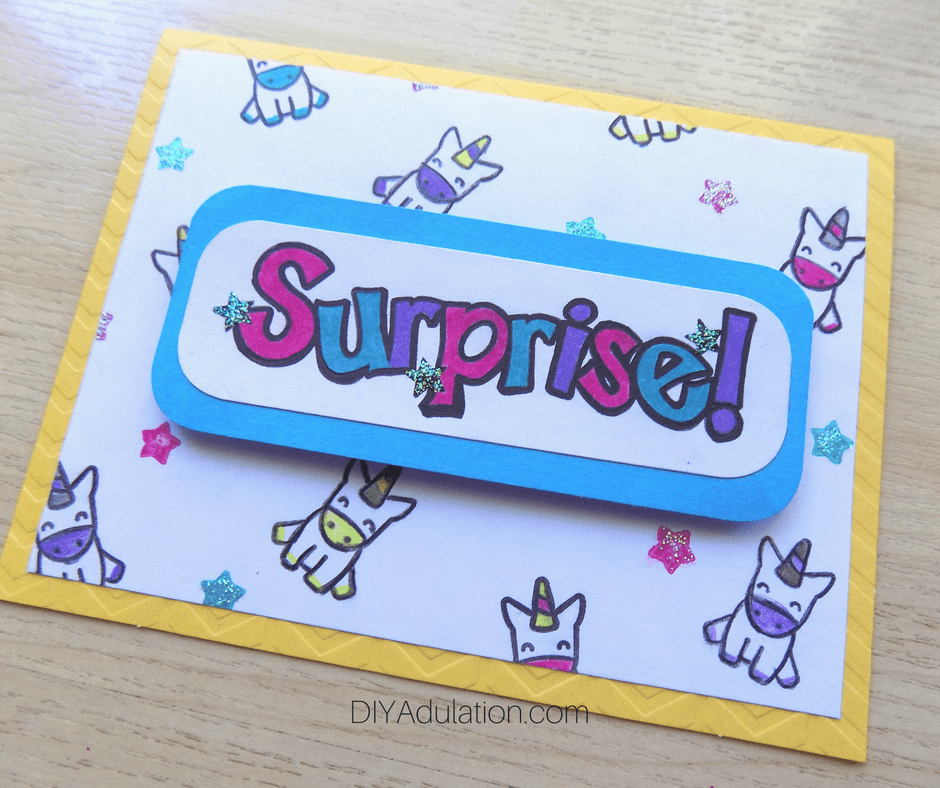 Surprise Unicorn Card