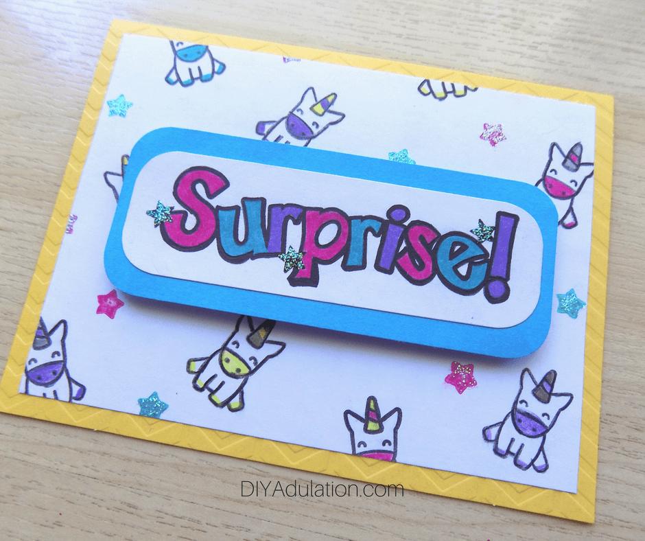 Surprise Unicorn Card