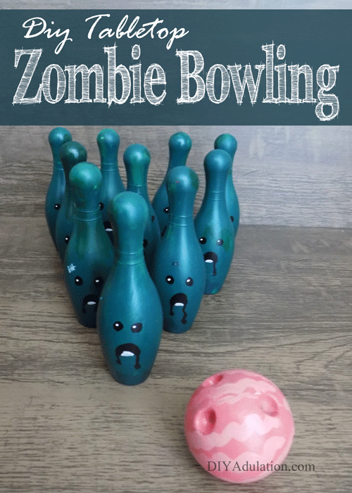 DIY Tabletop Zombie Bowling Game