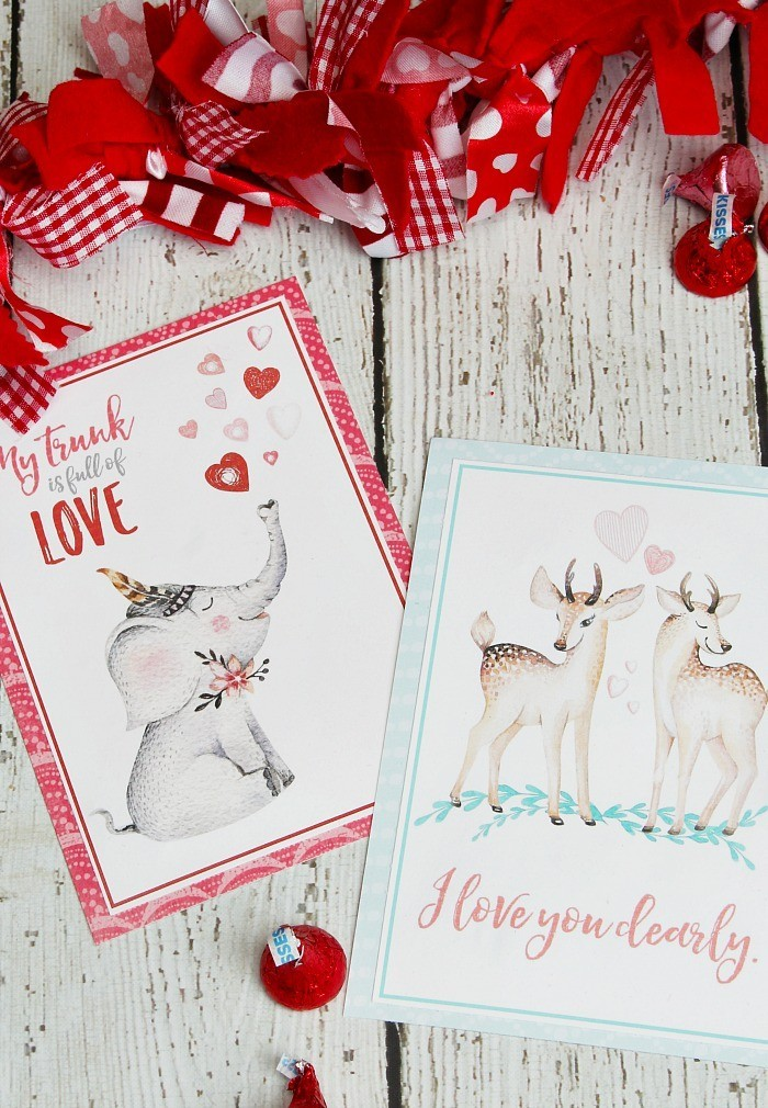 Valentine's Cards Next to ribbons