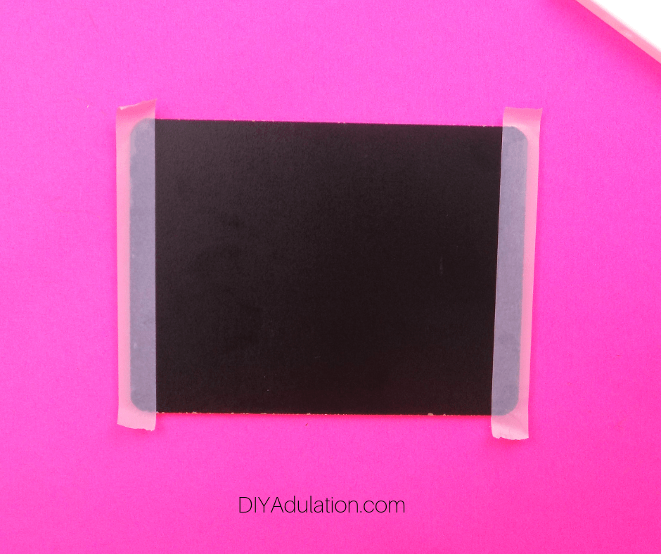 Washi Tape on Short Edges of Chalkboard