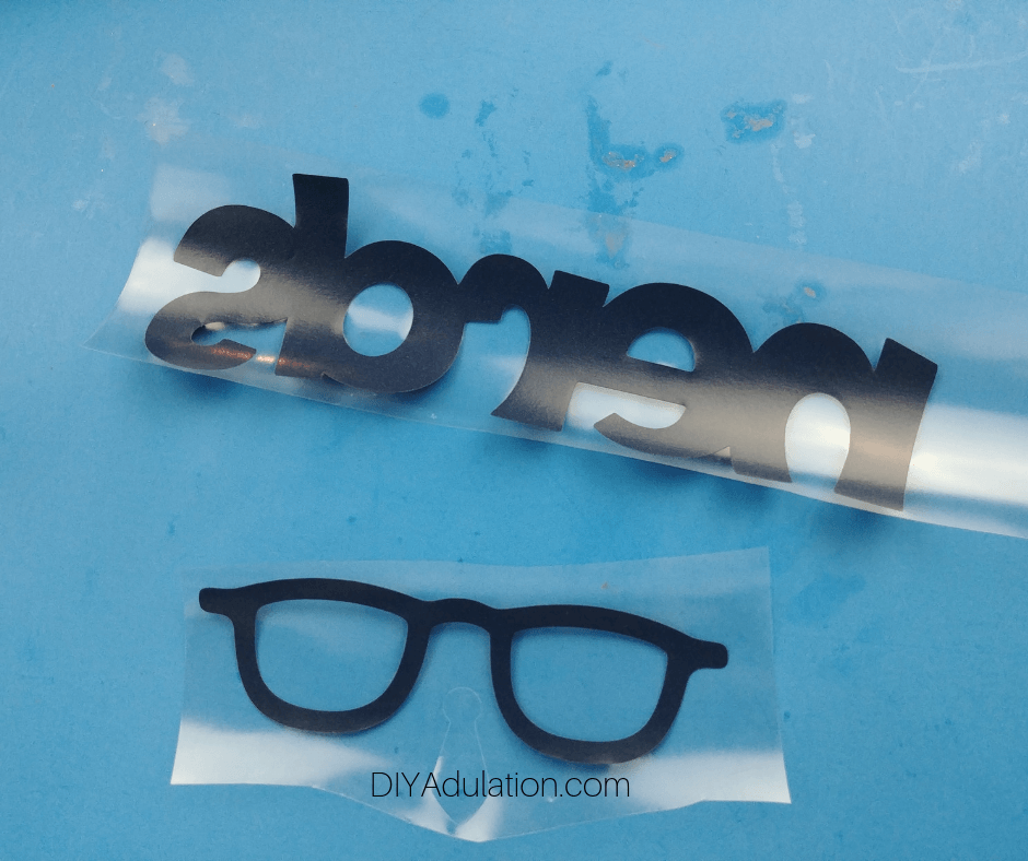 Weeded Nerds and Glasses Navy Vinyl Pieces